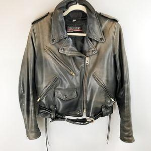 BROOKS Leather Moto Jacket